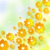 άνοιξη ανασκόπησης chamomiles Στοκ εικόνα με δικαίωμα ελεύθερης χρήσης