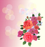 Άνοιξη, ανθοδέσμη των λουλουδιών διανυσματική απεικόνιση