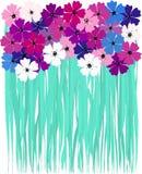 άνοιξη απεικόνισης τεχνητών λουλουδιών διανυσματική απεικόνιση