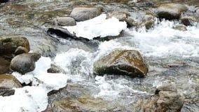 Άνοιξη βουνών νερού απόθεμα βίντεο