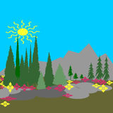 άνοιξη βουνών Στοκ εικόνες με δικαίωμα ελεύθερης χρήσης
