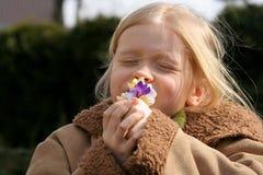 άνοιξη κοριτσιών Στοκ Φωτογραφίες