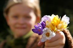 άνοιξη κοριτσιών Στοκ φωτογραφία με δικαίωμα ελεύθερης χρήσης