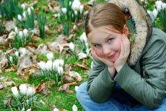 άνοιξη κοριτσιών Στοκ εικόνα με δικαίωμα ελεύθερης χρήσης