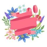 άνοιξη λουλουδιών εμβλημάτων ελεύθερη απεικόνιση δικαιώματος