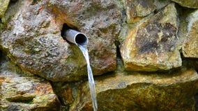 Άνοιξη μεταλλικού νερού απόθεμα βίντεο