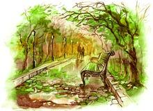 άνοιξη πάρκων Στοκ Εικόνα