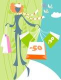 άνοιξη πωλήσεων Στοκ Φωτογραφία