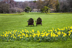 Άνοιξη στους κήπους Στοκ φωτογραφία με δικαίωμα ελεύθερης χρήσης