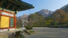 Άνοιξη στο εθνικό πάρκο Seoraksan, Νότια Κορέα απόθεμα βίντεο