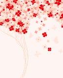 άνοιξη τεχνητών λουλουδιών διανυσματική απεικόνιση