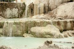Άνοιξη του θερμικού νερού Bagni SAN Filippo στοκ φωτογραφίες