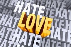 Άνοδοι αγάπης επάνω από το μίσος διανυσματική απεικόνιση