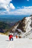 Άνοδοι ορειβατών Στοκ Εικόνα
