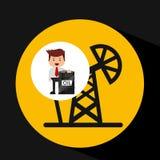 Άντληση βιομηχανίας πετρελαίου επιχειρηματιών απεικόνιση αποθεμάτων