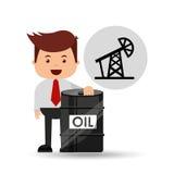 Άντληση βιομηχανίας πετρελαίου επιχειρηματιών ελεύθερη απεικόνιση δικαιώματος