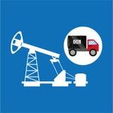 Άντληση πετρελαίου φορτηγών δεξαμενών γραφική ελεύθερη απεικόνιση δικαιώματος