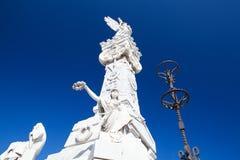 Άνω και κάτω τελεία του Cristobal νεκρόπολη Το κύριο νεκροταφείο της Αβάνας Στοκ Εικόνα