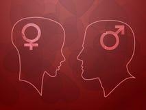 Άνδρας και γυναίκα διανυσματική απεικόνιση