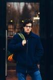 Άνδρας σπουδαστής πορτρέτου Στοκ Φωτογραφία
