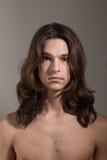 Άνδρα-γυναίκας transgender γυναικών ανδρών πορτρέτο τραβεστί Στοκ εικόνα με δικαίωμα ελεύθερης χρήσης