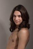 Άνδρα-γυναίκας transgender γυναικών ανδρών πορτρέτο τραβεστί Στοκ Εικόνες