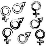 Άνδρες και γυναίκες σημαδιών Στοκ Εικόνες