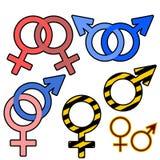 Άνδρες και γυναίκες σημαδιών Στοκ φωτογραφία με δικαίωμα ελεύθερης χρήσης