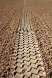 άπειρη άμμος προοπτικής ίχν&om Στοκ Εικόνες