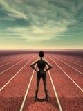 Άπειρη τρέχοντας διαδρομή ελεύθερη απεικόνιση δικαιώματος