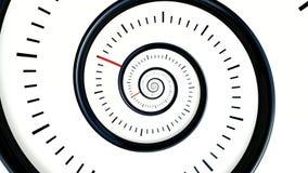 άπειρος χρόνος Άπειρο περιστρεφόμενο υπόβαθρο ρολογιών Γραπτό υπόβαθρο ρολογιών ελεύθερη απεικόνιση δικαιώματος