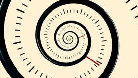 άπειρος χρόνος Άπειρο περιστρεφόμενο υπόβαθρο ρολογιών Γραπτό υπόβαθρο ρολογιών διανυσματική απεικόνιση