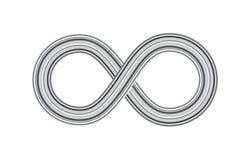 Άπειρο, αιωνιότητα ή διανυσματικό σύμβολο Moebius που απομονώνεται στο λευκό διανυσματική απεικόνιση