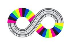 Άπειρο, αιωνιότητα ή διανυσματικό σύμβολο Moebius που απομονώνεται στο λευκό ελεύθερη απεικόνιση δικαιώματος