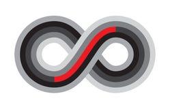 Άπειρο, αιωνιότητα ή διανυσματικό σύμβολο Moebius που απομονώνεται στο λευκό απεικόνιση αποθεμάτων
