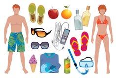 άπειρο καλοκαίρι απεικόνιση αποθεμάτων