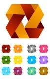 Άπειρο πρότυπο λογότυπων σχεδίου κορδελλών διανυσματικό. Στοκ φωτογραφίες με δικαίωμα ελεύθερης χρήσης