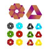 Άπειρο πρότυπο λογότυπων σχεδίου κορδελλών διανυσματικό Στοκ Εικόνα