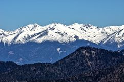 Άποψη άνοιξη σχετικά με το βουνό Chopok Στοκ εικόνα με δικαίωμα ελεύθερης χρήσης