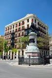 Άποψη άνοιξη της Μαδρίτης Στοκ εικόνα με δικαίωμα ελεύθερης χρήσης