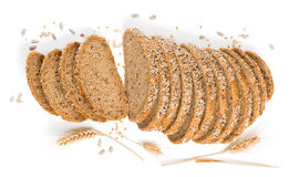 Άποψη άνωθεν του ψωμιού με τα δημητριακά Στοκ φωτογραφία με δικαίωμα ελεύθερης χρήσης