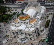 Άποψη άνωθεν Palacio de Bellas Artes του παλατιού Καλών Τεχνών - Πόλη του Μεξικού, Μεξικό Στοκ Εικόνες