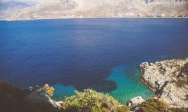 Άποψη άποψης θάλασσας από τα montains στοκ εικόνα
