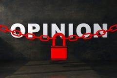 Άποψη έννοιας που κλείνουν στο μπουντρούμι ελεύθερη απεικόνιση δικαιώματος
