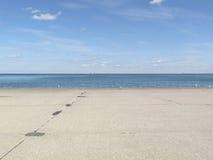 Άποψη έξω πέρα από τη λίμνη Μίτσιγκαν Στοκ εικόνες με δικαίωμα ελεύθερης χρήσης