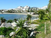 Άποψη ή παραλία Puerto Banus Στοκ εικόνα με δικαίωμα ελεύθερης χρήσης