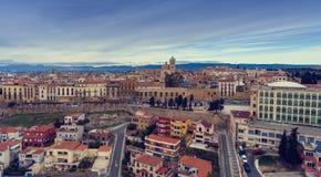 Άποψη αέρα των σπιτιών Tarragona, Καταλωνία, Ισπανία στοκ εικόνες