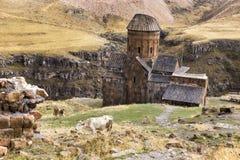 Άποψη Αγίου Gregory Tigran Honents σε Ani Στοκ Φωτογραφίες