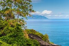 Άποψη ακτών νησιών Mahe, Σεϋχέλλες Στοκ φωτογραφία με δικαίωμα ελεύθερης χρήσης