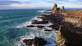 Άποψη ακτών της Ισλανδίας απόθεμα βίντεο